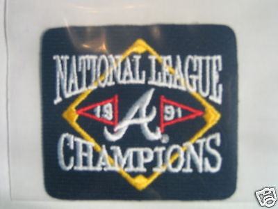 MLB Atlanta Braves 1991 Natl League Champs Patch 1992
