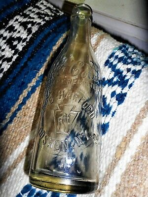 One of America's Rarest Script Coca-Cola Bottles:Harford,Goshen,NY Smokey Clear.