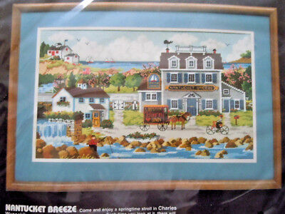 DIMENSIONS NEEDLEPOINT KIT - NANTUCKET BREEZE - CHARLES WYSOCKI - NEW -Free ship
