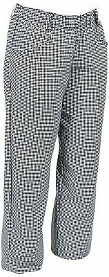 NEW~MERCER Women's Contemporary Black & White Check Baggy Chef Pants  2X  SOFT!