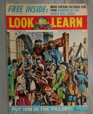 LOOK and LEARN  COMIC  , # 63 , FREE GIFT PICTURES , 1963 . 30TH MARCH
