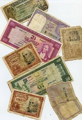 8 PC FOREIGN CURRENCY LOT *hucky*