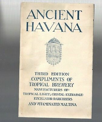 Rare Vintage Collectible 1920s ANCIENT HAVANA, Cuba TROPICAL BEER BREWERY BOOK
