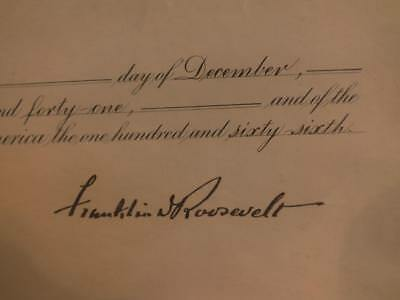 Franklin D. Roosevelt Signed Appointment For Ambassador Watrous - Real Autograph