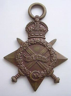 1914-15 Star medal KIA 1st July 1916 Somme Yorkshire Light Infantry Chesterfield