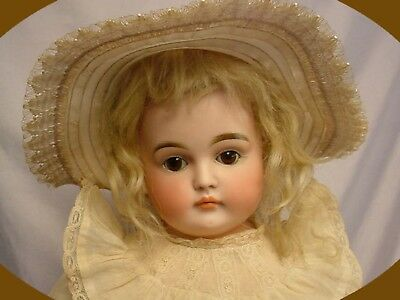 """ANTIQUE Kestner Closed Mouth L Lady Doll 23"""" FABULOUS"""