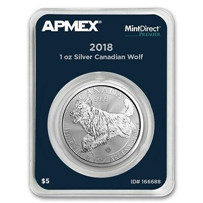 1 once Monnaie / pièces en argent 999 CANADA FAUNE Predator Wolf 2018 IN