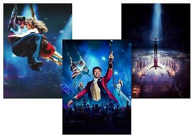 The GREATEST SHOWMAN  Hugh Jackman, Zac Efron,  A5 A4 A3 Textless Posters