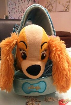 "Disney Store Lady And The Tramp Lady 10"" Soft Toy With Personalised Carry Bag"