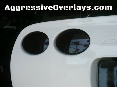 C5 Corvette Smoked Tail Light Overlays Tinted Film Fits C5 and Z06 97' to 04'