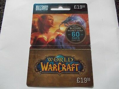 World Of Warcraft Plastic Empty Gift Card/voucher Azeroth Awaits Blizzard