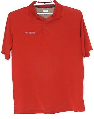 30e434677c6 Mens COLUMBIA Titanium Omni Shade Vented Polo Shirt Size Large Color - Rust
