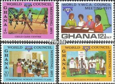 Ghana 439A-442A (complete.issue.) unmounted mint / never hinged 1971 YMCA