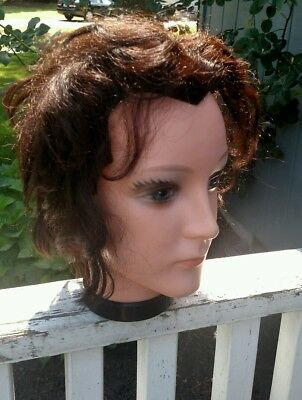 Leo Baby Austrian Hairdresser Training Mannequin Head ~ Real Hair ~ Vintage