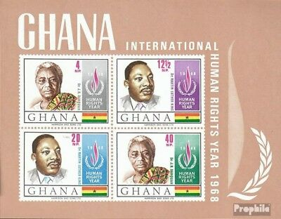 Ghana Block35 (complete.issue.) unmounted mint / never hinged 1969 Human Rights