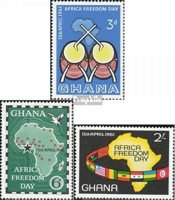 Ghana 94-96 (complete.issue.) unmounted mint / never hinged 1961 Freedom