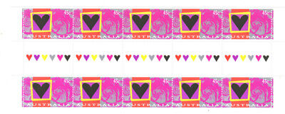 1996 Roses gutter strips of 10. MNH.Very scarce as such & cheap