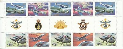 1996 Aviation gutter strips of 10. MNH.Very scarce as such & cheap
