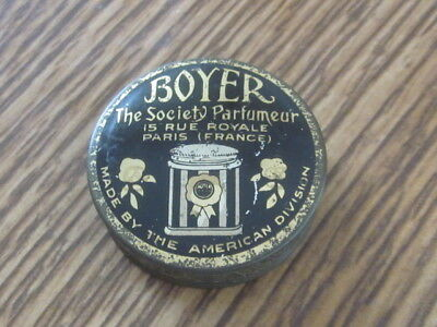 Rare Antique Boyer Tin Parfumeur UN-USED 1920'S EX!