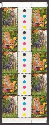 1996 Pets gutter strips of 10. MNH.Very scarce as such & cheap