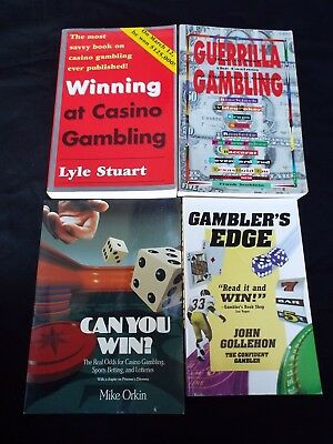 Lot of 4 Books Casino Craps Blackjack Roulette Sports Strategy Gambling Guides