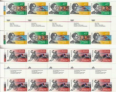 1996 Olympics set of 2 gutter strips of 10. MNH.Very scarce as such & cheap