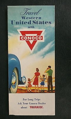 1956 Western United States road  map Conoco  gas oil route 66