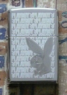 Discontinued Playboy Zippo Lighter Free Flints