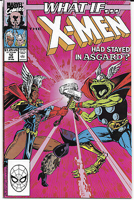 1990 What If X-Men Had Stayed In Asgard #12 NM Marvel Comics FREE BAG/BOARD