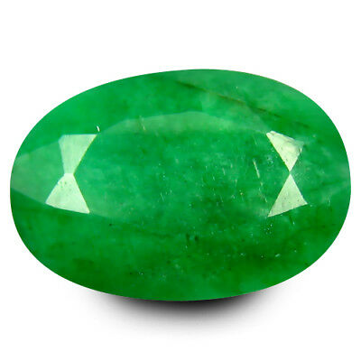 10.06 ct  Supreme Oval Shape (15 x 11 mm) Green Emerald Natural Gemstone