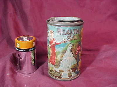 1920s COLD SPRING HEALTH SALT Patent MEDICINE Advertising TIN