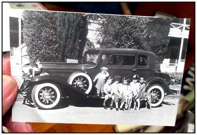 1932 Studebaker real photo post card 1932 Our Gang (Little Rascals) Spanky