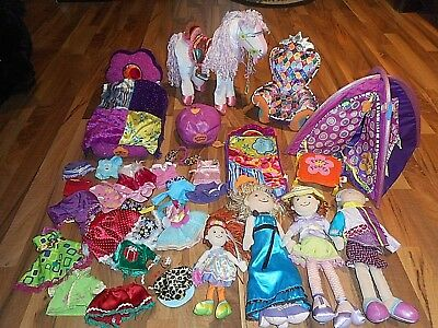 Groovy Girls Bed horse  Tent Sleeping Bag Dolls Clothes Repro Retro 1960's plush