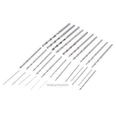 28PCS Micro Twist Drill Bits Mini Set HSS Straight Shank Metric Sizes 0.3-3.0mm