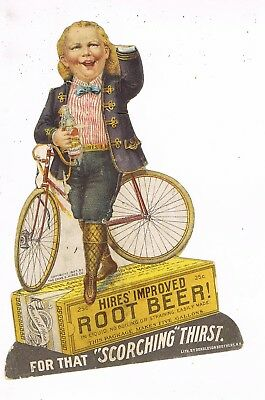 VICTORIAN ADVERTISING / TRADE Card    HIRES ROOT BEER