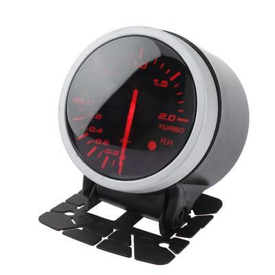"2.5"" 60mm Turbo Digital Boost Vacuum Gauge Meter Car Auto LED Red Smoke Lens"