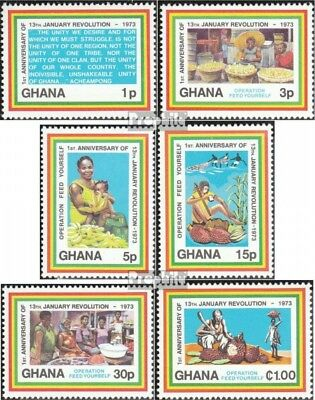Ghana 492A-497A (complete.issue.) unmounted mint / never hinged 1973 Revolution