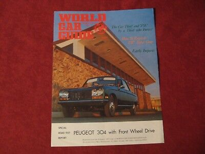 1971 Peugeot Original Showroom Dealership Brochure Salesman Old Booklet