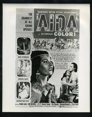 1953 SOPHIA LOREN In AIDA Vintage Original Photo TWO WOMEN EL CID gp