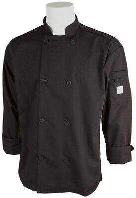 NEW w/tags  Mercer Culinary Chef/Cook Coat /Jacket~8 button  sz LG  Unisex BLACK
