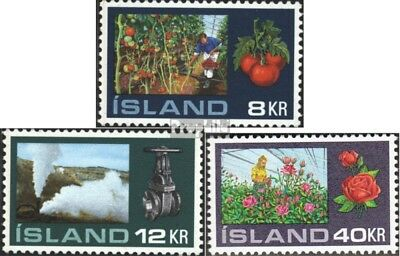 Iceland 465-467 (complete issue) unmounted mint / never hinged 1972 Gewächshausk