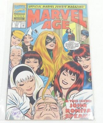 Marvel Age #111 Comic (SIGNED by John Romita) 1992 Marvel Ent Group, NM