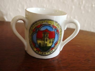 Collectable Vintage Gemma Crested Ware Small Loving Cup Paignton