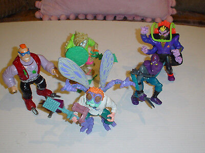 Teenage Mutant Ninja Turtles Tmnt 5 Vintage Figures & Most Weapons 1980's Set 3