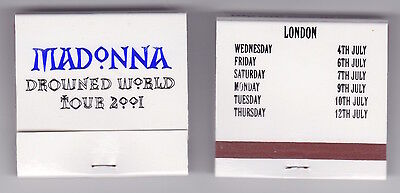 Madonna - Drowned World Tour 2001 - Rare promo only book of matches (2 sets)