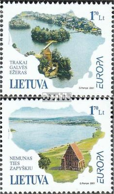 Lithuania 756-757 (complete.issue.) unmounted mint / never hinged 2001 Water