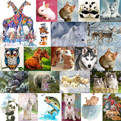 Animal Team DIY 5D Diamond Painting Embroidery Cross Craft Stitch Art Kit Decor