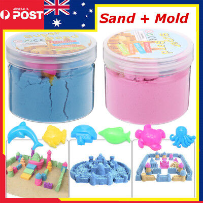 Magic Motion Colorful Sand + Mold Kid Child DIY Indoor Play Craft Non Toxic