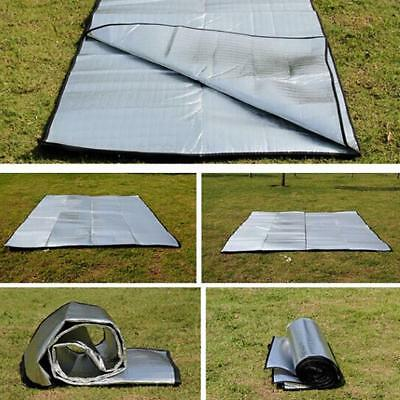 OUTDOOR 2 Person XXL Isomatte Alumatte 200x120 cm Thermomatte Isoliermatte