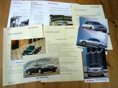 Toyota Camry press releases & photos, 1990s-2000s, excellent, rare